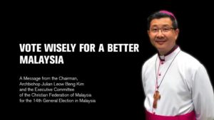 GE-14 MESSAGE BY ARCHBISHOP JULIAN LEOW